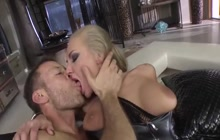 Two tattooed sluts and Rocco Siffredi fucking