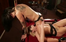 Bonnie And Bailey Fucking On Billiard Table